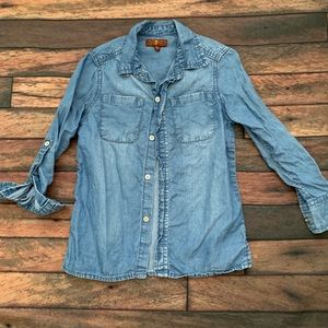 Seven chambray button down